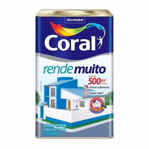 TINTA ACRILICO FOSCO STANDARD RENDE MUITO CORAL 18 LITROS