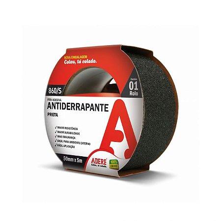 FITA ANTIDERRAPANTE 50MMX5M PRETA - ADERE