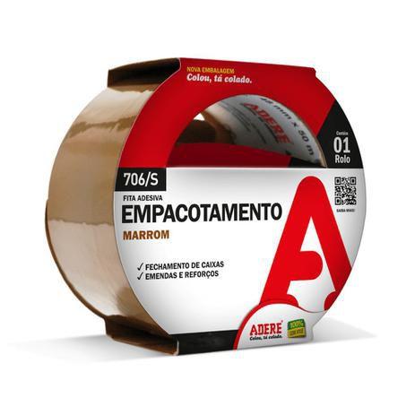 FITA EMPACOTAMENTO 48X50 MARROM - 706 - ADERE