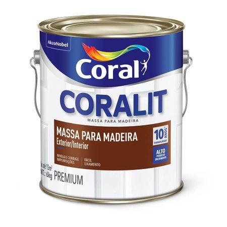 MASSA OLEO PARA MADEIRA CORALIT CORAL