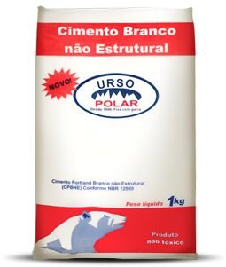 CIMENTO BRANCO 1KG - URSO POLAR