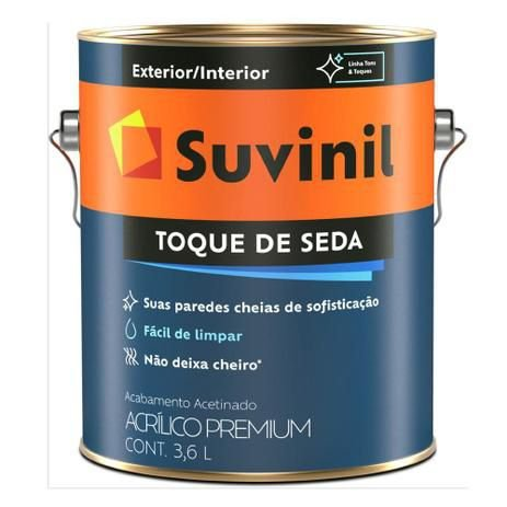 TINTA ACRÍLICA ACETINADO 3,6L TOQUE SEDA - SUVINIL