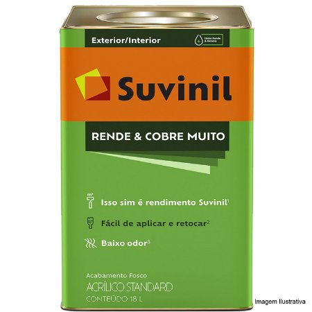 TINTA ACRÍLICA FOSCA STANDARD 18L - RENDE E COBRE MUITO - SUVINIL