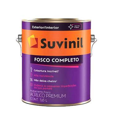 TINTA ACRÍLICA FOSCO PREMIUM 3,6L - FOSCO COMPLETO - SUVINIL