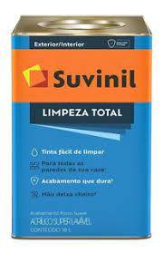 TINTA ACRÍLICA ACETINADO SUPERLAVAVEL 18L GELO - LIMPEZA TOTAL - SUVINIL