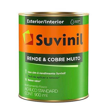 TINTA ACRÍLICA STANDARD 0,9L BRANCO - RENDE E COBRE MUITO - SUVINIL
