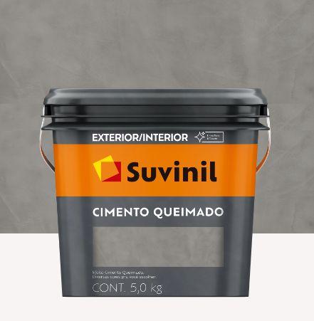EFEITO CIMENTO QUEIMADO 5,0KG - DIA DE CHUVA - SUVINIL