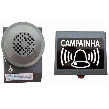 Campainha Sem Fio RS Cinza 40m