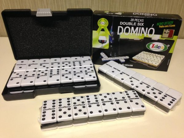 JOGO DE DOMINO PROFISSIONAL 2 CORES 11,5mm