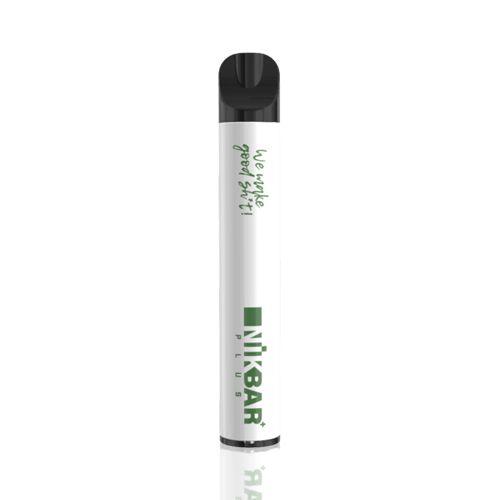 Pod Descartável NikBar Plus - 600 Puffs - Green Apple Ice