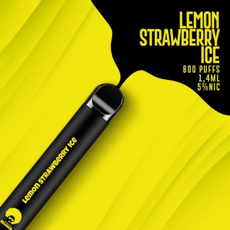 Pod descartável Puff Mamma - Fix - 600 Puffs - Lemon Strawberry Ice