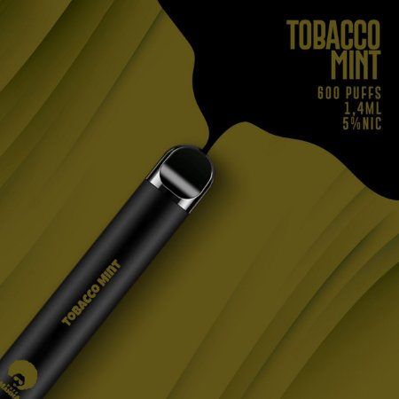 Pod descartável Puff Mamma - Fix - 600 Puffs - Tobacco Mint