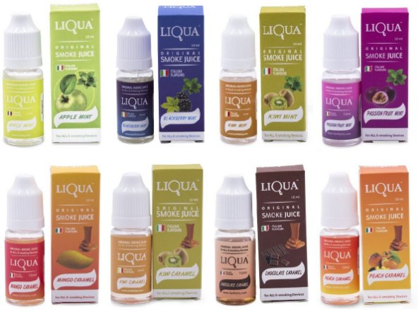 COMBO Liqua - 8 Líquidos de 10ml 6mg - Novos Sabores