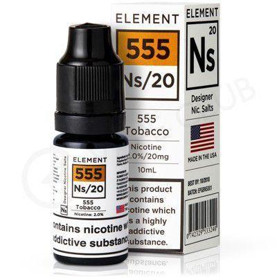 Líquido Element Salt Nicotine - 555 Tobacco