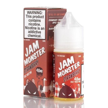 Líquido Nic Salt Jam Monster - Strawberry