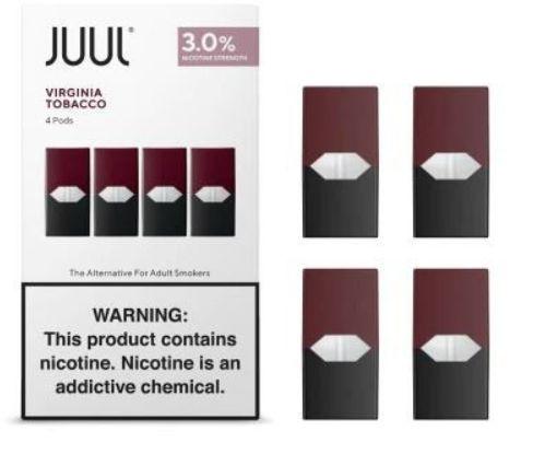 Pod Juul - Virginia Tobacco com 3% de nicotina