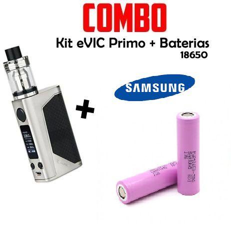 Combo Vape - 1 Kit eVIC Primo Com 2 Baterias 18650