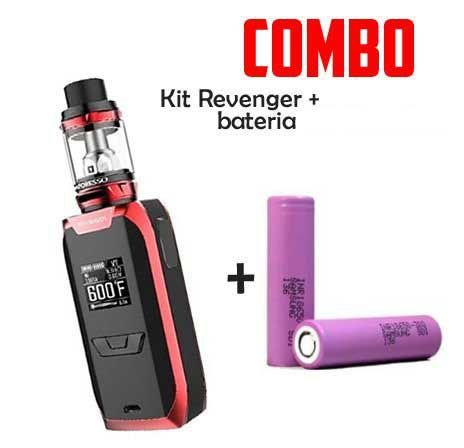Combo Vape - 1 Kit Revenger Com 2 Baterias 18650