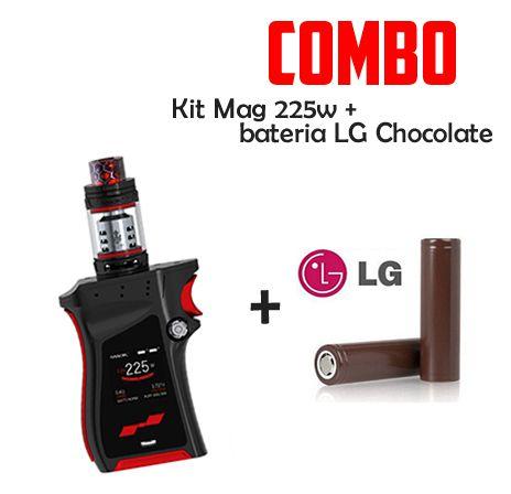 COMBO VAPE - 1 KIT MAG  225w + 2 BATERIAS LG Chocolate