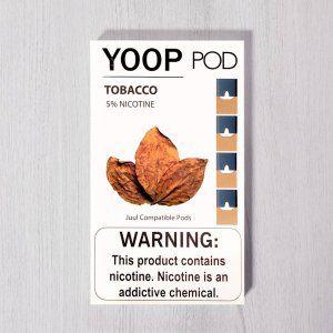 Yoop Pods Tobacco - Compatíveis com Juul - Yoop Vapor