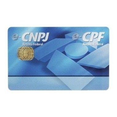 Cartão inteligente Gemalto com Frete Grátis - Certificado Digital e-CPF e-CNPJ