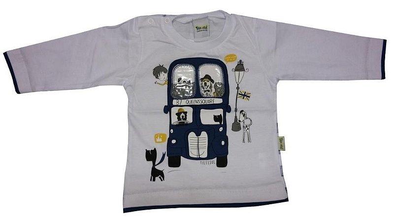 Camiseta Bebe Masculina Tile e Sul