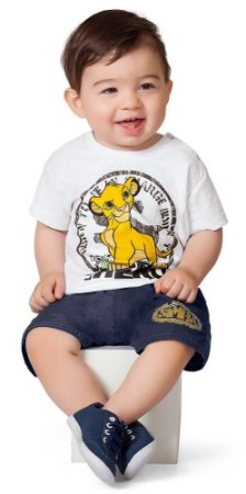 4fc53d0b8 Conjunto Bebe Masculino Fakini Rei Leão - Babyfral Roupas de Bebe ...