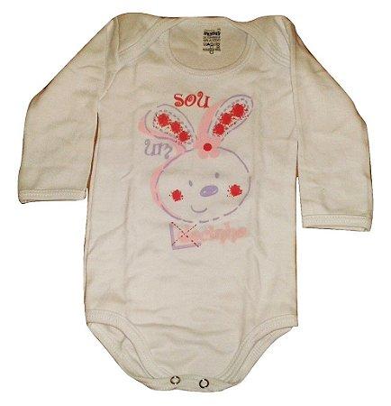 Body Feminino Coelhinho Doctor Baby G Kit com 3 unidades
