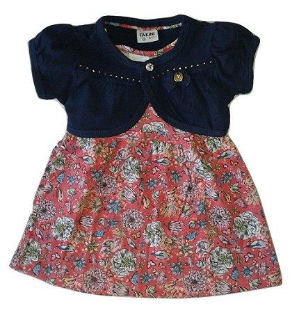 Vestido Bebe Feminino Fakini Kids G