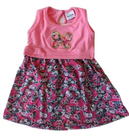 Vestido Bebe Feminino Borboleta G