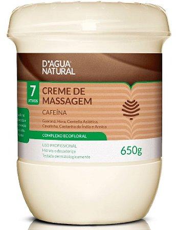 Creme de massagem Cafeína 650g - D'água Natural