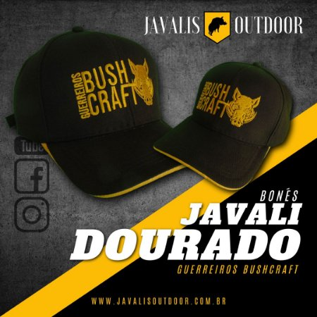 Boné Javali Dourado - Guerreiros Bushcraft