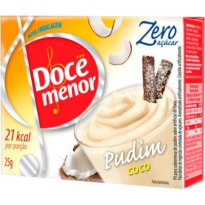 PÓ PARA PUDIM ZERO COCO DOCE MENOR 25G