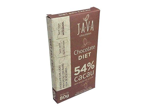 CHOCOLATE 54% CACAU DIET JAVA 80G