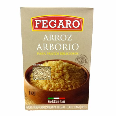 ARROZ ARBORIO INTEGRAL FEGARO 1KG