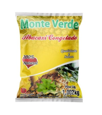ABACAXI COM HORTELÃ CONGELADO MONTE VERDE 1KG