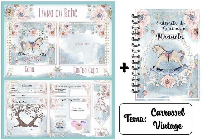 Kit Livro do Bebê  + Caderneta