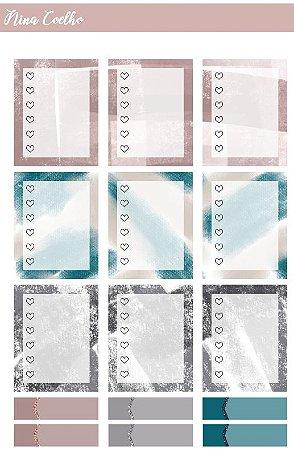 Adesivos Corações - Clássico - Designer Nina Coelho