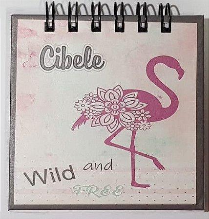 Mini Bloco de Anotações - Tie Dye Flamingo