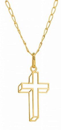 Corrente Cruz Vazada Ouro 18k 750