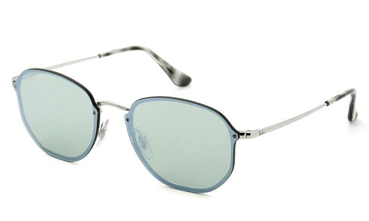 Óculos Ray Ban Metal com Lente de Plástico