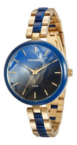 Relógio Mondaine Feminino Redondo Azul 76681lpmvde3