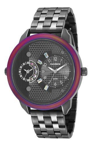 Relógio Mondaine Feminino Redondo Chumbo 76715lpmvse1