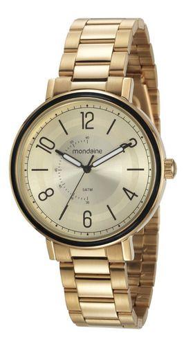 Relógio Mondaine Feminino Redondo Dourado 53677lpmvde1