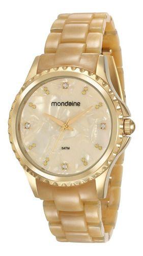 Relógio Mondaine Feminino Redondo Dourado 53680lpmvdf3