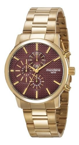 Relógio Mondaine Feminino Redondo Dourado 53708lpmvds2