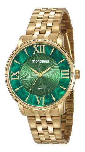 Relógio Mondaine Feminino Redondo Dourado 53715lpmvde1
