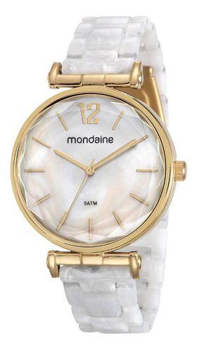 Relógio Mondaine Feminino Redondo Dourado 53744lpmvdf1