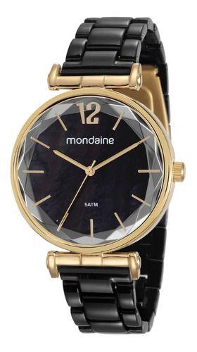 Relógio Mondaine Feminino Redondo Dourado 53744lpmvdf2