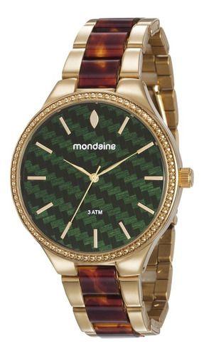 Relógio Mondaine Feminino Redondo Dourado 76713lpmvde2